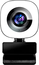2021 New Upgraded 2K 1440P Streaming Webcam with Ring Light,Webcam with Microphone for Desktop,with Flexible Rotable Wide ...