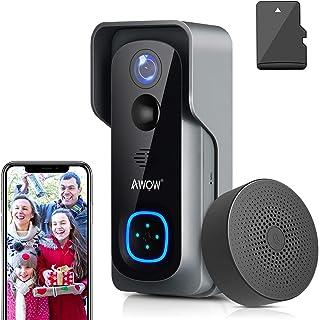 Video Türklingel mit Kamera, AWOW 1080P HD Video Doorbell mit 16GB Speicherkarte,..