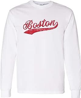 UGP Campus Apparel Hometown Baseball Script - Hometown Pride, Pitcher Long Sleeve T Shirt