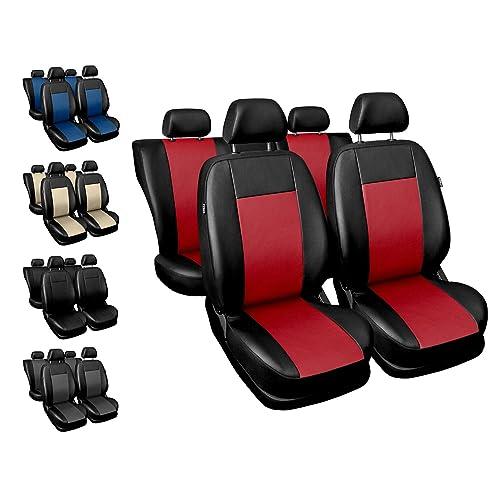 Premium Kunstleder Sitzbezüge Sitzbezug Schonbezüge für Suzuki Swift Grau Set