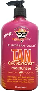 European Gold Tan Extender Moisturizer, 18 Oz