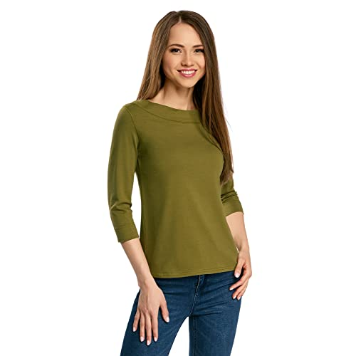 oodji Collection Women s 3 4 Sleeve T-Shirt 68ab7fd42