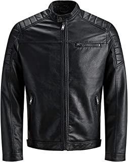 JACK & JONES Jjewarner Jacket Noos Giacca in Ecopelle Uomo