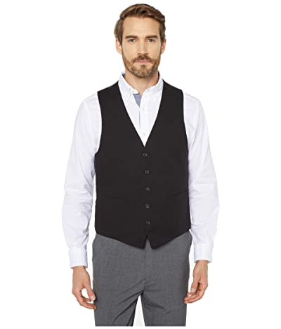 Kenneth Cole Reaction Techni-Cole Stretch Suit Separate Vest (Black) Men