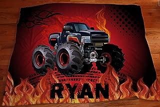 Personalized Monster Truck blanket, Custom Boys Room Decor, Plush blankets, Boys Blankets, Monster Truck Blanket, Big Boys Trucks