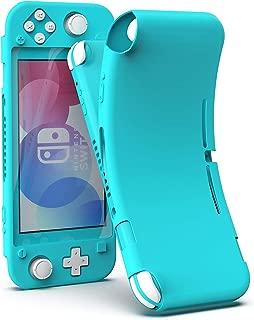 Nintendo Switch Lite ケース 全面保護カバー ニンテンドー スイッチ LITE カバー シリコン素材 柔らかい 頑丈 軽量 耐衝撃 落下防止 ほこり防止 着脱簡単 Dodotop (ブルーグリーン)