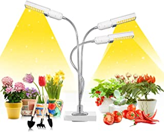 LED Grow Light for Indoor Plants, Mrhua 68W 156 LEDs Tri Head Auto On/Off Plant Light Sunlike Full Spectrum Grow Lamp with...