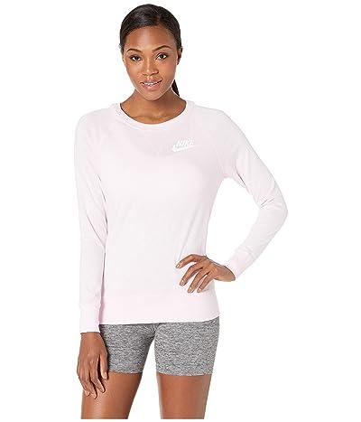 Nike Sportswear Gym Vintage Crew (Pink Foam/Sail) Women