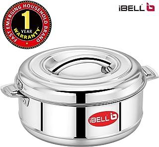 iBELL SS35C Stainless Steel Casserole, 3500ML, Metallic Steel, Healthy & Hygienic Dinnerware