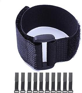 HUAPX Sangles Velcro,sangles de câble à crochet et boucle, attaches de câble réglables réutilisables en nylon/sangles à cr...