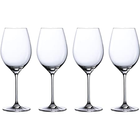 Amazon Com Waterford 40033795 Waterford Marquis Moments Red Wine 19 6 Oz Set Of 4 Clear Wine Glasses