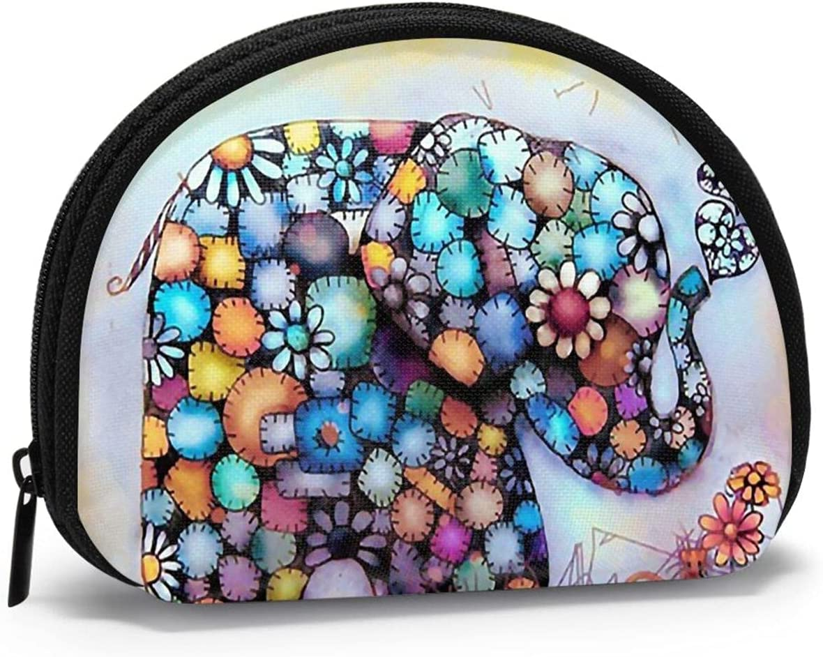 Cute Fashion Coin Purse,Cute Elephant Full Drill Small Zipper Wallet Change Pouch Holiday Gifts For Girls