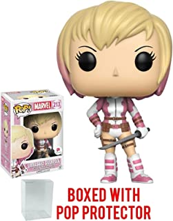 Funko Pop! Marvel Unmasked GwenPool #213 (Walgreens Exclusive) Vinyl Figure (Bundled with Pop BOX PROTECTOR CASE)
