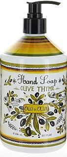 Italian Deruta Hand Soap, Olive Thyme, 21.5 FL OZ By Home & Body Company