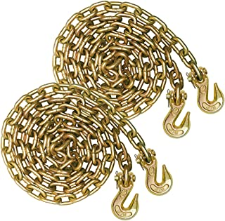 VULCAN Grade 70 5/16'' x 20' Binder Chain with Clevis Grab Hooks - 4,700 lbs. Safe Working Load (2-Pack)