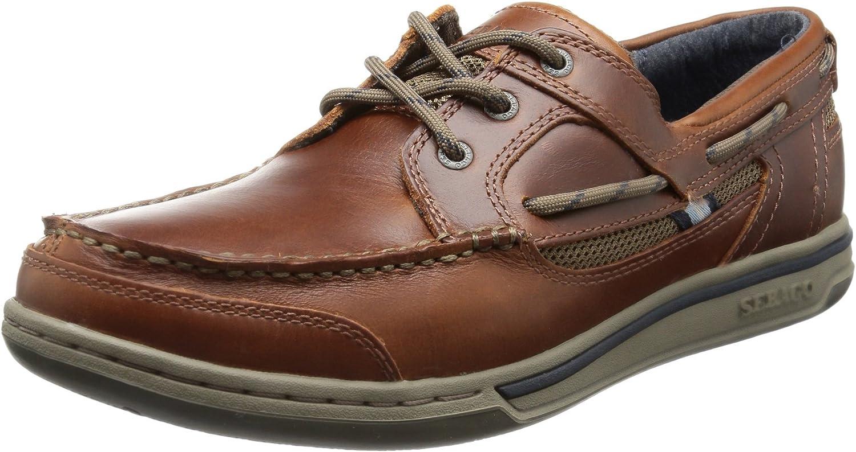 Sebago Mens Dark Brown Triton Three Eye Boat shoes-UK 8.5