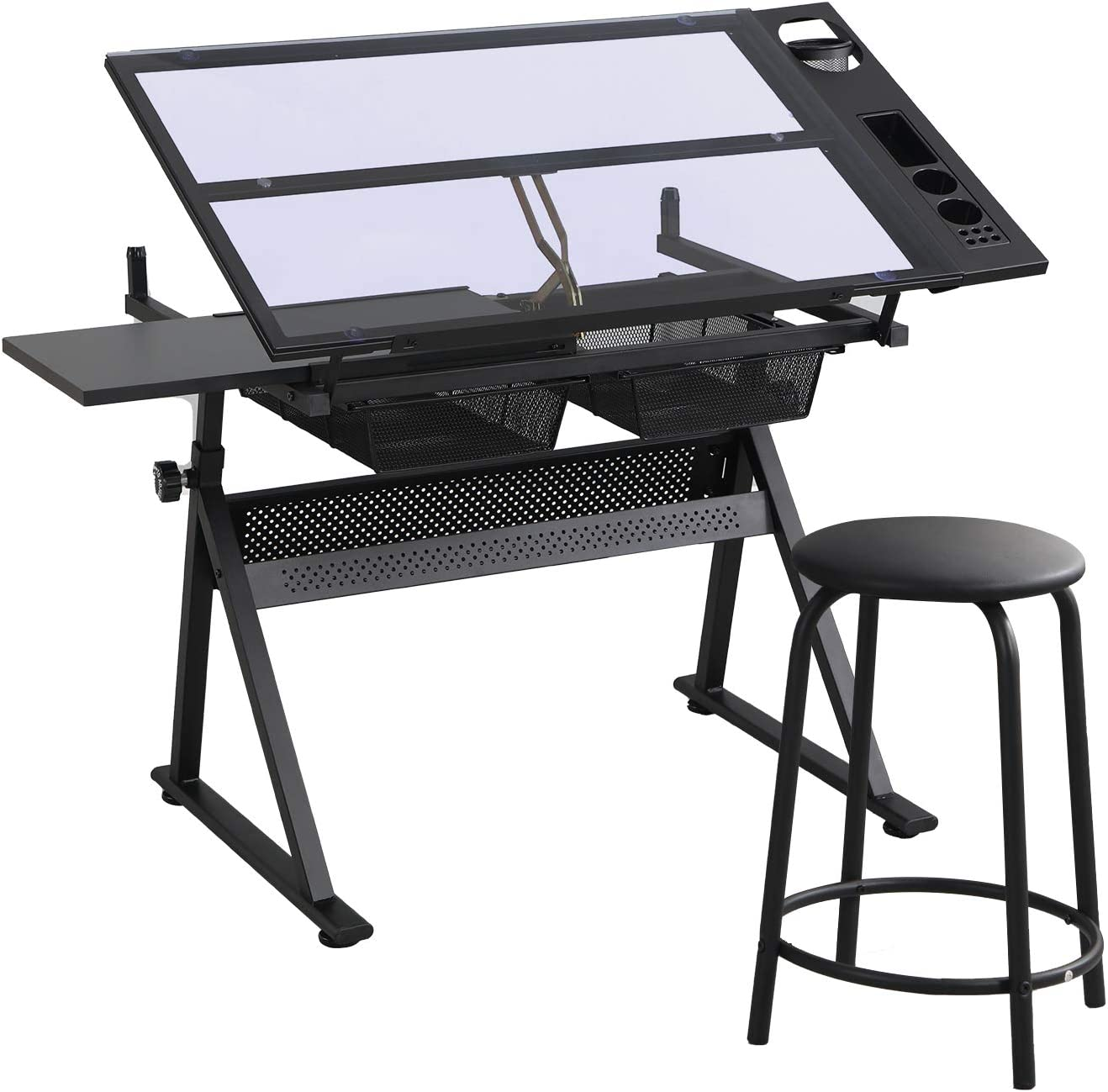 Glass Drafting Ranking TOP13 Table Height Adjustable Stool Columbus Mall Desk Drawing with