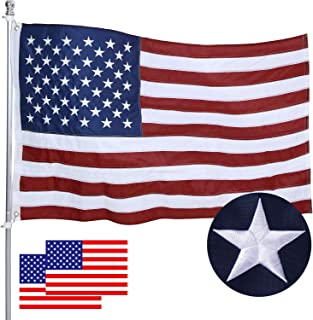 Best American Flag 3X5 FT Made in USA, intbag USA Flags with Embroidered Stars,Sewn Stripes Brass Grommets,Long Lasting Durable 200D Polyester US Flag for Outdoor Indoor Office, Fade Resistant,Bright Color Review