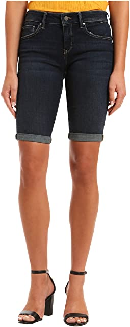 Karly Mid-Rise Shorts in Deep Tribeca