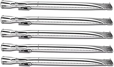 Utheer BBQ Grill Parts Burner Tubes 14-7/8 inch for Home Depot Nexgrill 720-0830H, 720-0830D Gas Grill Models, Stainless Steel Burner Tubes Pipe Replacement Parts, 5 Pack