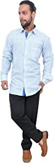 The Mods Men's Formal Light Blue Color Shirt