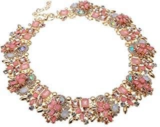 Best vintage pink crystal necklace Reviews