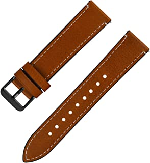 Quick Release Leather Watch Band, Fullmosa 6 Colors Wax Oil 14mm 16mm 18mm 20mm 22mm 24mm Leather Watch Strap