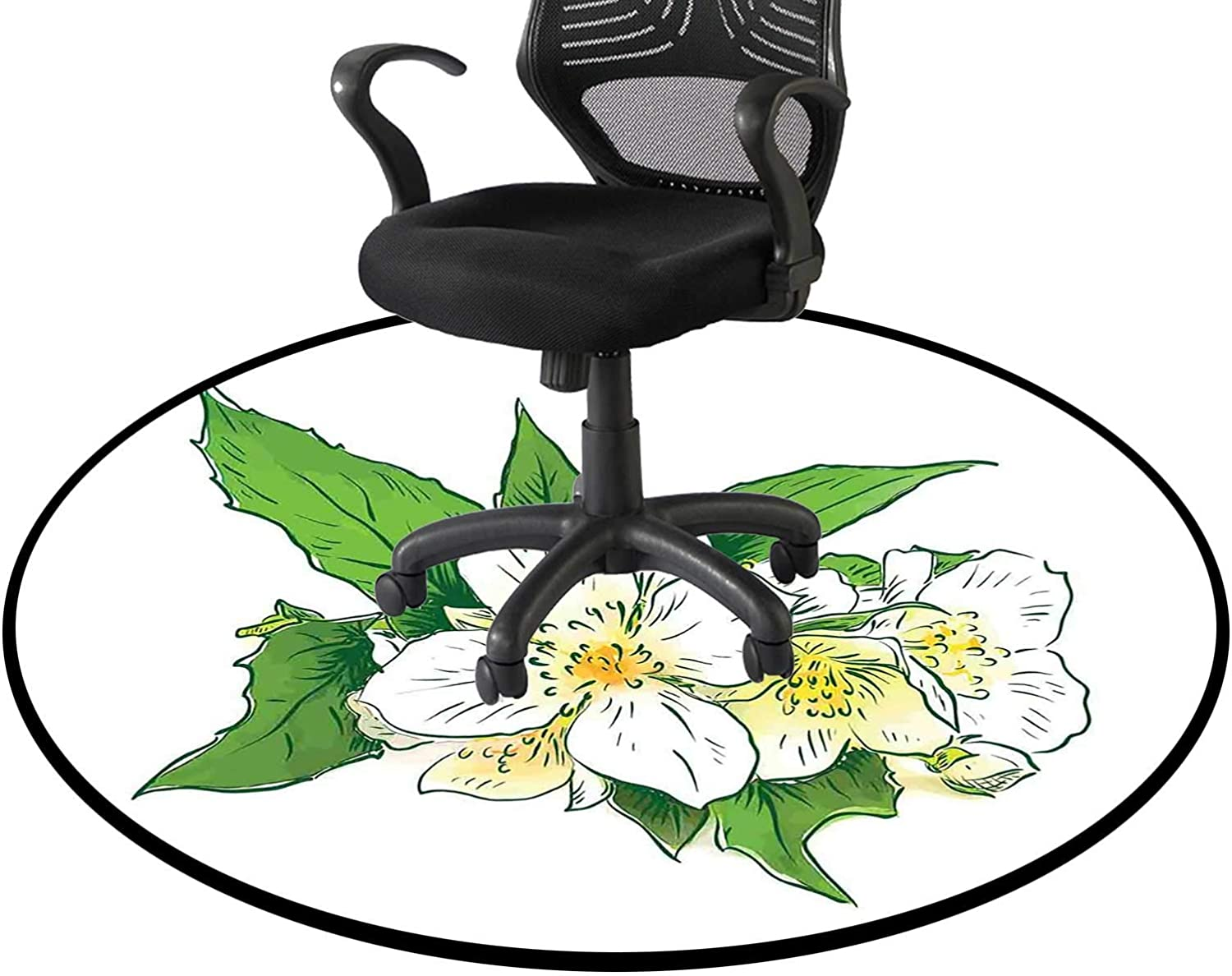 Freshness 2021 model and Purity Office Swivel Chair Max 60% OFF Round fo Mat Floor Mats