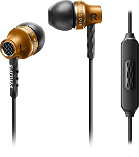 Philips SHE9105 in-Ear Headphones with Mic (Aluminium Housing, Silicon Caps) (Bronze)