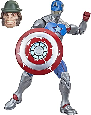 Marvel Hasbro Legends Series 6-inch Collectible Civil Warrior Action Figure Toy for Age 4 and Up with Shield Accessory