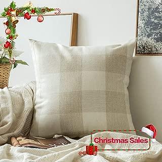 green gingham pillow