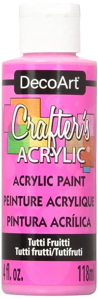 DecoArt Crafter's Acrylic Paint, 4-Ounce, Tutti Fruitti