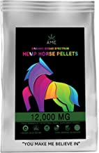 AME D'ESSENCE Hemp Horse Oil Treats Broad Spectrum Pellets Immediate Anxiety Relief Joint Supplement Organic Calming Chews...