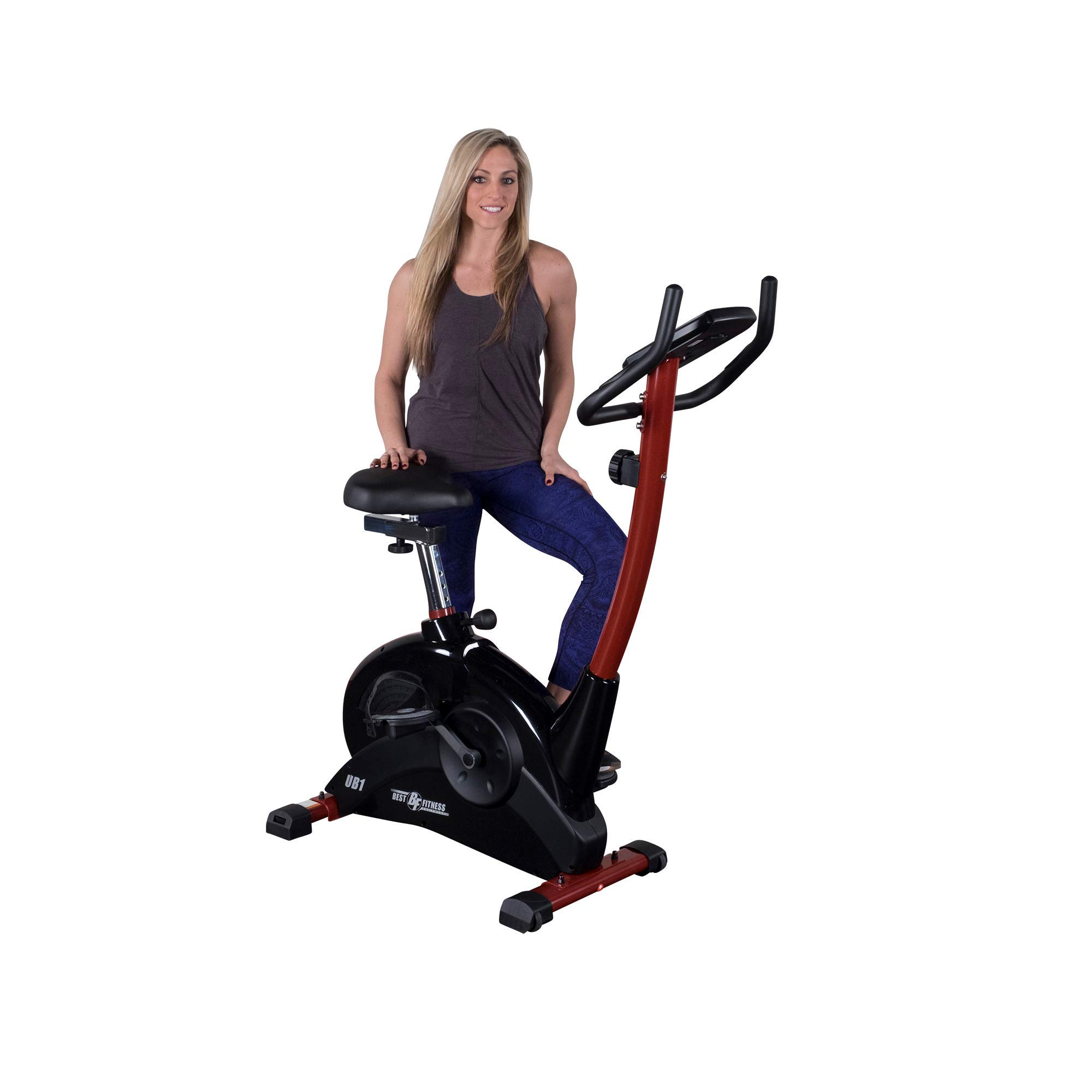 Best Fitness bicicleta estática vertical - BFUB1, Negro: Amazon.es ...