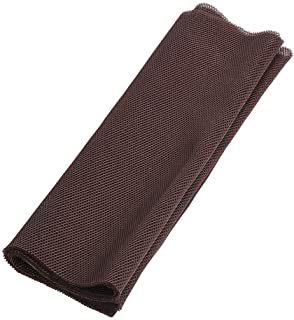 Queen.Y Speaker Grill Cloth, 1.4m x 0.5m Fabric Dustproof Protective Cloth Cover Stereo Mesh Fabric,Brown