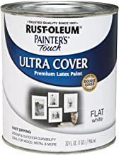 Rust-Oleum 1990502 Painters Touch Latex, 1-Quart, Flat White