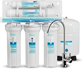 Geekpure 5-Stage Standard Reverse Osmosis Drinking Water Filter System All Filters is Universal Compatible-75GPD