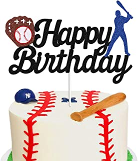 Sponsored Ad - Baseball Theme Cake Topper - Happy Birthday Cake Topper for Birthday / Baseball / Sports Party Theme Decora...