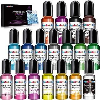Colorant Resine Epoxy - 18 Couleurs Pigment de Resine Epoxy Liquide - Colorant Resin Epoxy Concentré pour Coloration Résin...