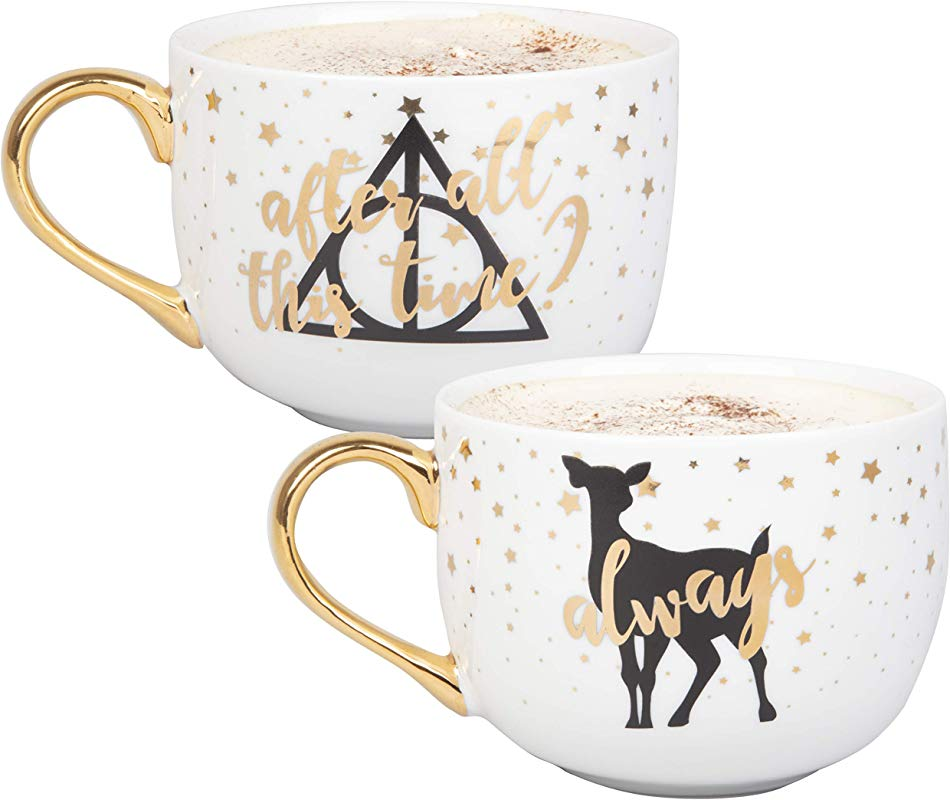 Harry Potter Latte Coffee Mug Set After All This Time Always Cute Pinache Design 16 Oz