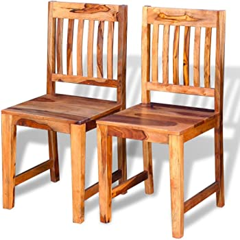 Solid Wood Chair 95 Cm Sheesham Wood Stand Solid Wood Dining Chairs Amazon De Kuche Haushalt