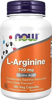 Now Foods Supplements, L-Arginine 700 mg, Nitric Oxide Precursor*, Amino Acid, 180 Veg Capsules