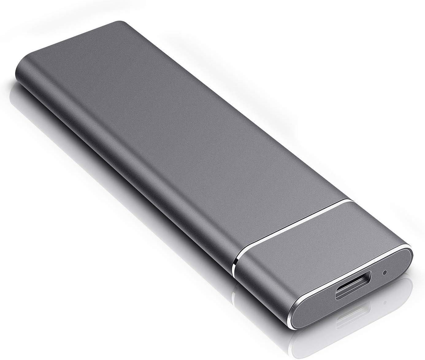 External Hard Drive, Ultra Slim Hard Drive External 1TB 2TB Portable HDD USB3.0 HDD for Mac, PC and Laptop (1TB, Black)