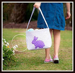Purple Cotton Tail Easter Bucket