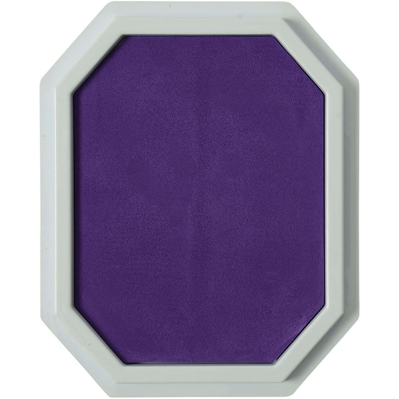Constructive Playthings Purple Colored Ink Large Washable Stamp Pad Kid Set for Rubber Stamps