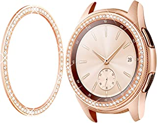 Goton Jewelry Bezel Ring Compatible Samsung Galaxy Watch 46mm Bezel, Gear S3 Frontier Classic, Crystal Bling Diamond Women Men Watch Bezel Cover Protector (46mm,Rose Gold)