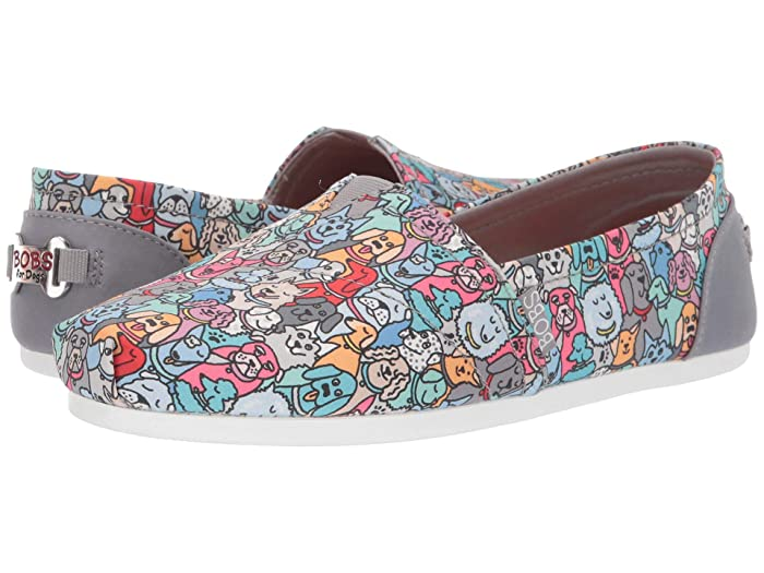 BOBS from SKECHERS  Bobs Plush - Woof Party (Multi) Womens Flat Shoes
