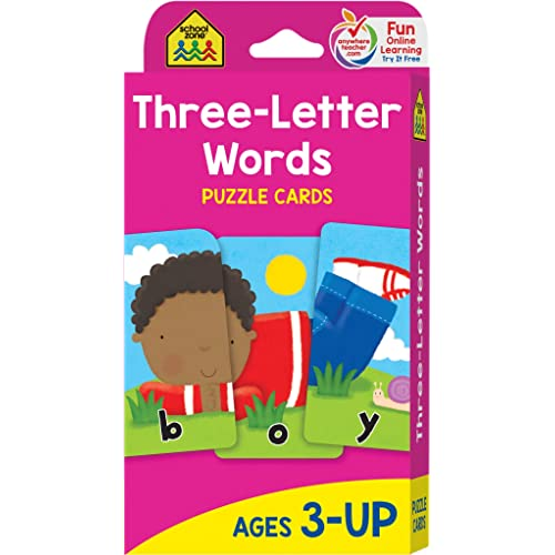 School Zone Three Letter Words Flash Cards Ages 3 And Up Letters