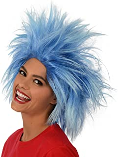 Funky Spiky Blue Wig; Costume Wig