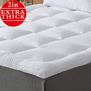 Naluka Mattress Topper Twin Size Pillowtop Bed Topper Mattress Pad 2 Inch Thick Mattress Cover